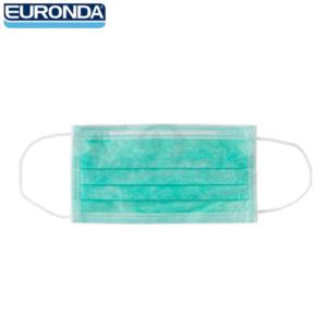 Mascarillas-desechables-3-capas-Euronda-Monoart-verde-TienDental