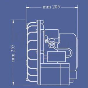 motor-aspiración-luzzani-airmatic-medidas-TienDental