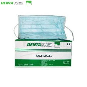 Mascarilla-plana-Dentaflux-con-goma-verde-TienDental