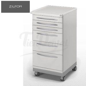 Carrito-Móvil-6-cajones-Zilfor-Tiendental-mobiliario-clínica-dental