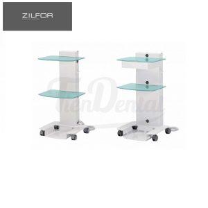 Carrito-móvil-cirugía-2-estantes-de-vidrio-Zilfor-TienDental-mobiliario-clínica