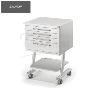 Carrito-móvil-con-4-cajones-RC4K-Zilfor-TienDental-mobiliario-clínica