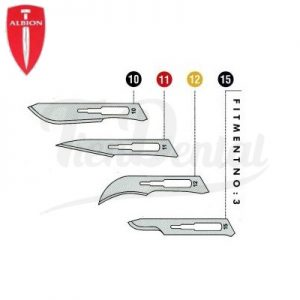 Hoja-Bisturí-Albion-Sherwood-modelos-TienDental-instrumental-quirúrgico
