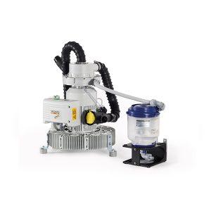 El ECO II es sencillo en su construcción y funciona completamente sin una unidad de control electrónico, ofreciendo una tasa de separación del 99.3%. Todo el dispositivo se reemplaza después de aproximadamente un año. El ECO II es adecuado para cualquier persona que busque una alternativa rentable y fácil de mantener a los sistemas centrífugos controlados electrónicamente. El ECO II puede servir hasta 3 unidades dentales, mientras que el ECO II Tandem puede servir de 3 a 5 unidades dentales. También está disponible como módulo para los sistemas de succión semihúmedos centrales híbridos A1 / A2 / A5 EXCOM.