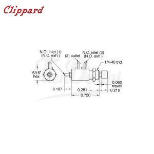 Mini-válvula-Clippard-SMAV-3-esquema-TienDental-repuestos-dentales