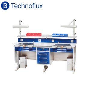 Mesa-trabajo-2-puestos-Laboratorio-Dental-Technoflux-TienDental-mobiliario-laboratorio