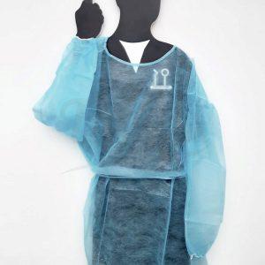 Bata-desechable-azul-Pack-10-unidades-TienDental-desechables-clínica-dental