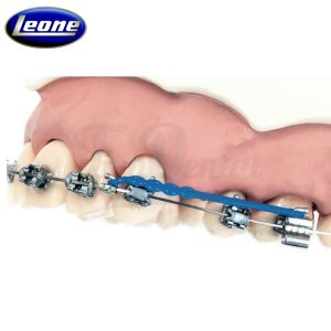 Arcos-Bidimensionales-Beta-Memoria-de-acero-con-gancho-Leone-TienDental-material-odontológico-ortodoncia-depósito-dental