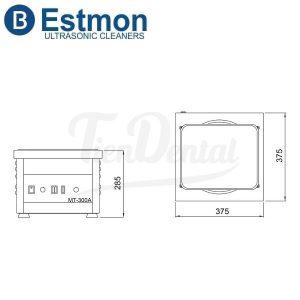 Pulidora-Magnética-Estmon-MT-300-A-dimensiones-con-regulador-y-extractor-TienDental-equipamiento-joyería