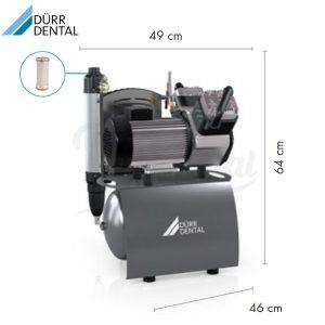 Compresor-Duo-230V-Durr-Medidas-TienDental-equipamiento-clínica-dental-compresores-dentales