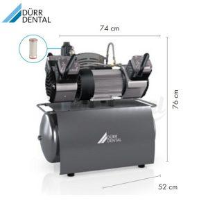 Compresor-Trio-230V-Durr-Medidas-TienDental-equipamiento-clínica-dental-compresores-dentales